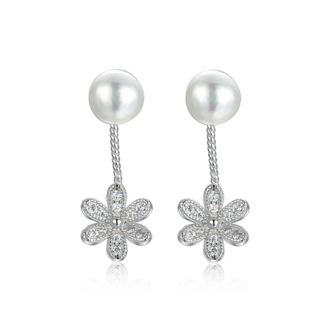 Daisy 925 Sterling Silver Drop Earrings