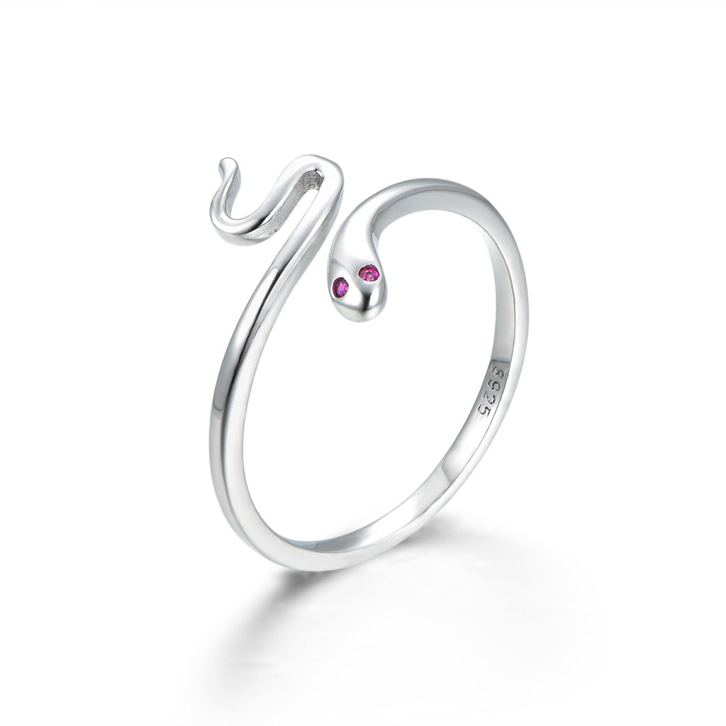 Garden Snake 925 Sterling Silver Statement Ring