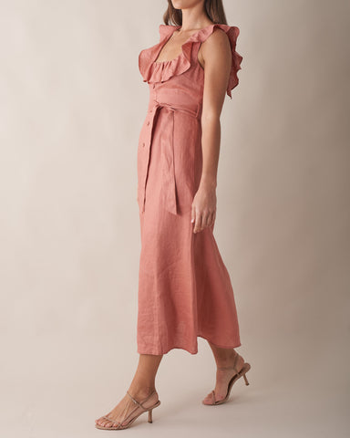 Bohdi Linen Midi Dress