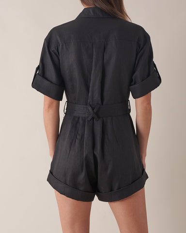 Surreal Linen Playsuit