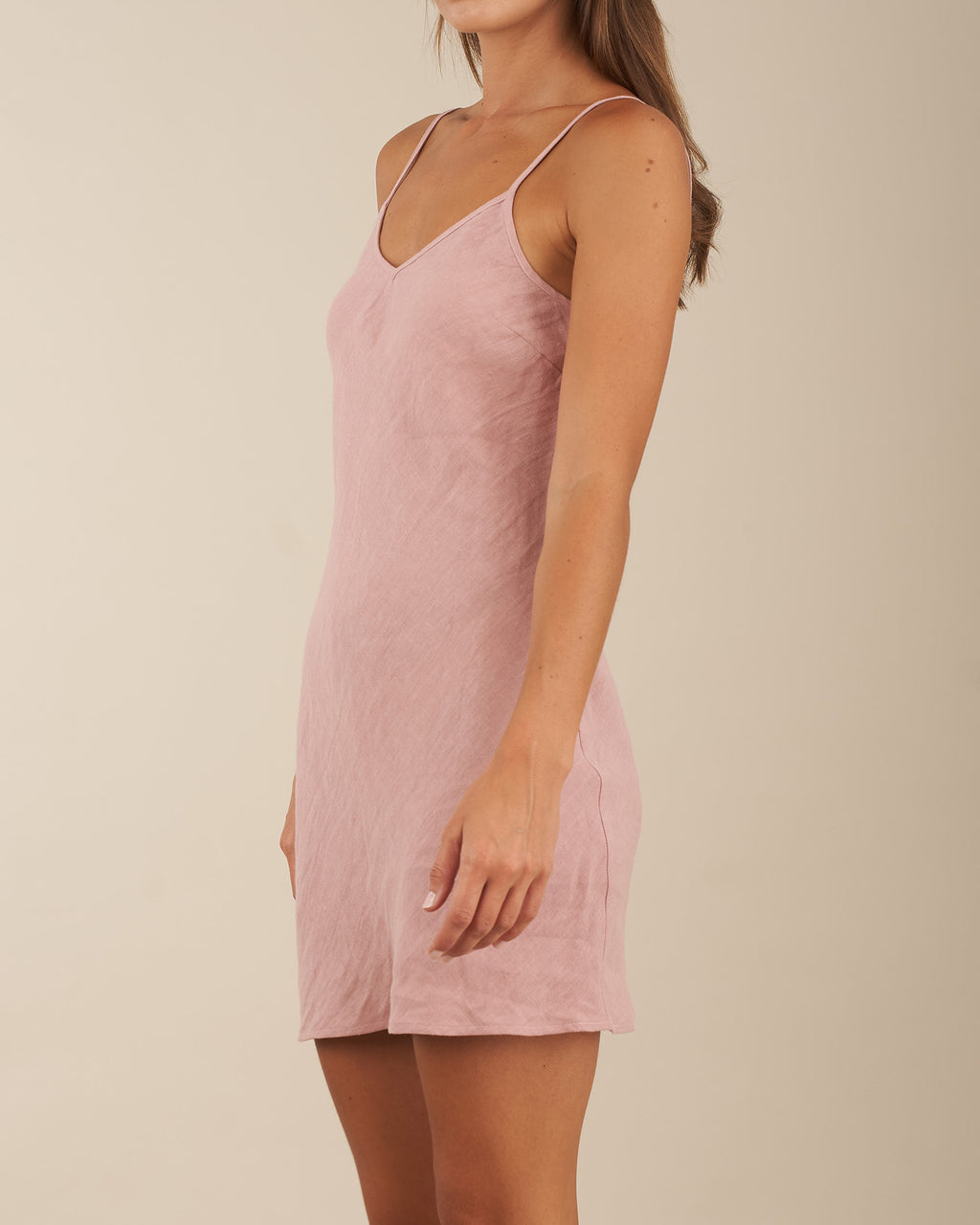 Grace Linen Mini Dress