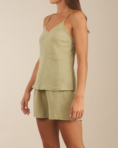 Grace Linen Cami and Short Set