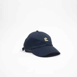 Premium Navy Blue and Gold Jefe hat