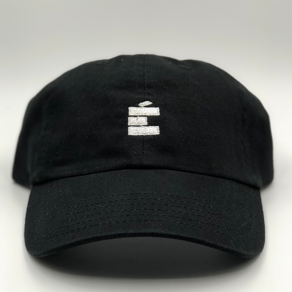 Load image into Gallery viewer, small E Dad Hat - Blk