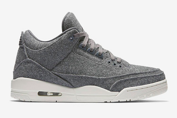 "3 RETRO WOOL ""DARK GREY"""