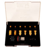 7 Piece Set c/w Magnetic Bit Holder x  Titanium Nitride Coated Screwdriver Insert Bit Set