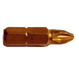Phillips 1 x 25mm Titanium Nitride Coated Phillips Screwdriver Insert Bits