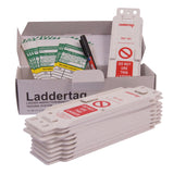 Laddertag Kit comprising 10 x Holders, 10 x Inserts, 1 x Pen