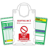 Scafftag Kit comprising 10 x Holders, 20 x Standard Inserts, 2 x Pen