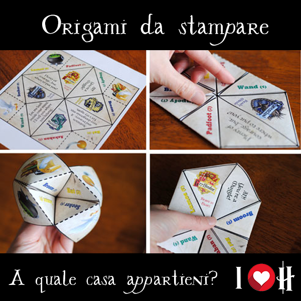 Origami di Harry Potter: a quale casa appartieni?
