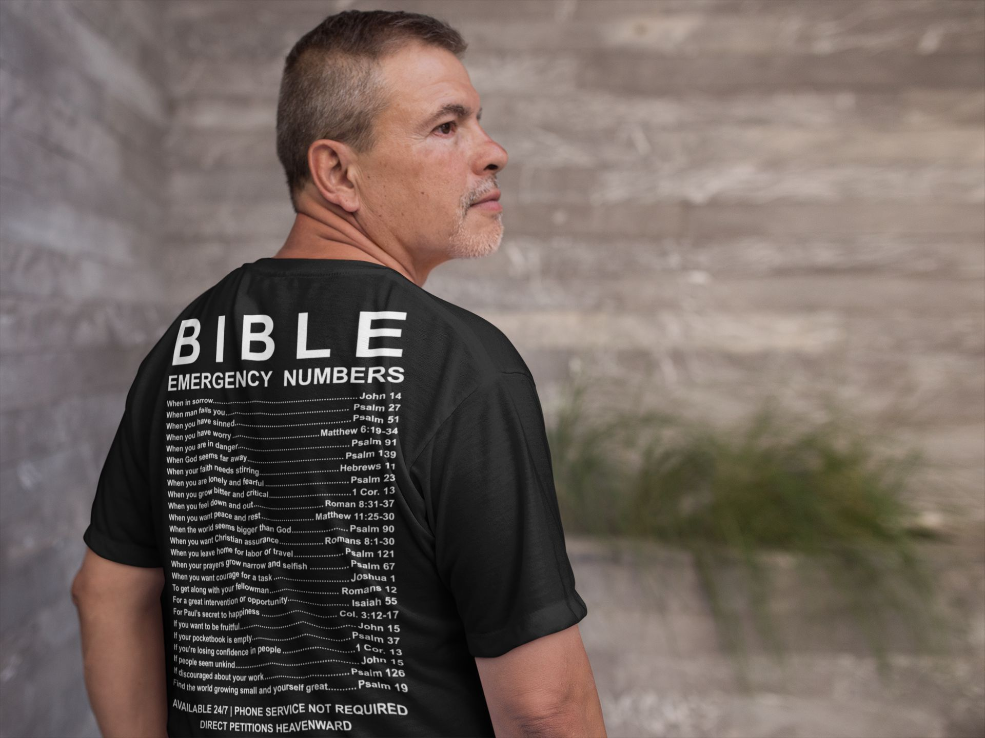 The Verse Behind The Christian T-Shirt: Bible Emergency Numbers