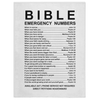 BIble Emergency Numbers Minky Blankets