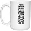 21504 15 oz. White Mug-Drinkware-Our Lord Style