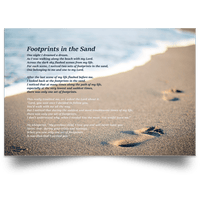 Footprints In The Sand Canvas & Poster
