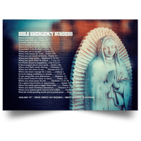 Bible Emergency Numbers Canvas & Poster (Mary Edition)