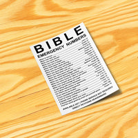 Bible Emergency Numbers Stickers
