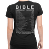 Bible Emergency Numbers (Ladies' Back Design)