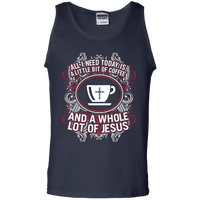 A Whole Lot Of Jesus Cotton Tank Top-Apparel-Our Lord Style
