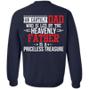 An Earthly Dad Lead By The Heavenly Father! (Back Design)-Apparel-Our Lord Style