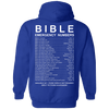 Bible Emergency Number Back Design (Hoodies, Sweats, Tanks & Long Sleeve)-Apparel-Our Lord Style