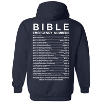 Bible Emergency Numbers (Back Design)-Apparel-Our Lord Style