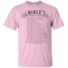 Bible Emergency Numbers Cotton Shirt-Apparel-Our Lord Style
