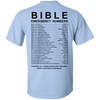 Bible Emergency Numbers Cotton Shirt (Light Back Design)-Apparel-Our Lord Style