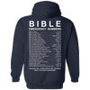 Bible Emergency Numbers Hoodies/Sweatshirts (Back Design)-Apparel-Our Lord Style