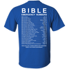 Bible Emergency Numbers (Ladies' Back Design)-Apparel-Our Lord Style