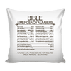 Bible Emergency Numbers Pillow Cover - FREE SHIPPING-Pillows-Our Lord Style