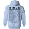Bible Emergency Numbers Pullover Hoodie (Light Back Design)-Apparel-Our Lord Style