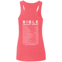 Bible Emergency Numbers Tank Tops (Back Design)-Apparel-Our Lord Style