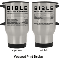 Bible Emergency Numbers Travel Mugs-Apparel-Our Lord Style