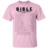 Bible Emergency Telephone Numbers Call When Cotton Shirt-Apparel-Our Lord Style