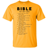 Bible To Do List Cotton Shirt-Apparel-Our Lord Style