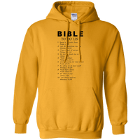 Bible To Do List Pullover Hoodie-Apparel-Our Lord Style