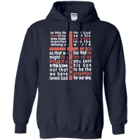 Cross Of Words (1 John 4:9-10) Pullover Hoodie-Apparel-Our Lord Style