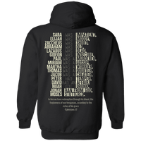 Ephesians 1:7 Pullover Hoodie (Back Design)-Apparel-Our Lord Style