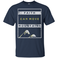 Faith Can Move Mountains Cotton Shirt-Apparel-Our Lord Style