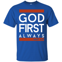 God First Always (Matt 6:33) Cotton Shirt-Apparel-Our Lord Style