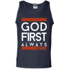 God First Always (Matt 6:33) Cotton Tank Top-Apparel-Our Lord Style