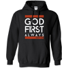 God First Always (Matt 6:33) Pullover Hoodie-Apparel-Our Lord Style