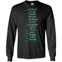 God Says V2 - Full Text With All Verses Long Sleeve Shirt-Apparel-Our Lord Style