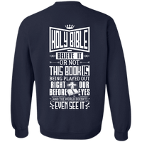 Holy Bible - Right Before Our Eyes Hoodies/Sweatshirts (Back Design)-Apparel-Our Lord Style