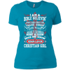 I'm A Christian Girl - Premium Ladies Tees & Tanks-Apparel-Our Lord Style