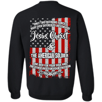 Jesus Christ And The American Soldier Hoodies/Sweatshirts (Back Design)-Apparel-Our Lord Style