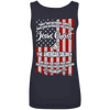 Jesus Christ And The American Soldier Tank Tops (Back Design)-Apparel-Our Lord Style