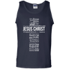 Jesus Christ In Different Languages Cotton Tank Top-Apparel-Our Lord Style
