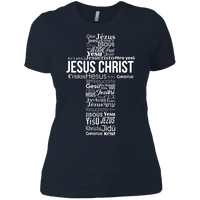 Jesus Christ In Different Languages Women's Shirt-Apparel-Our Lord Style