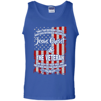 Jesus Christ & The Veteran Cotton Tank Top-Apparel-Our Lord Style